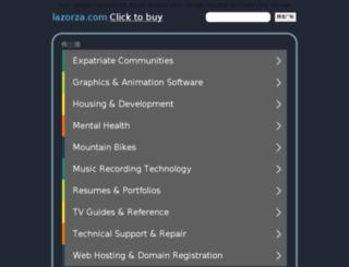 lazorza.com screenshot