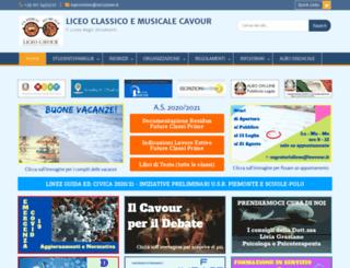lcavour.gov.it screenshot