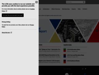 lcia.org screenshot