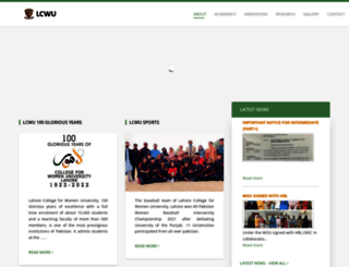 lcwu.edu.pk screenshot