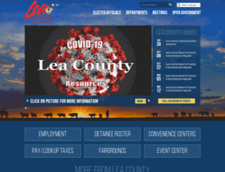 leacounty.net screenshot