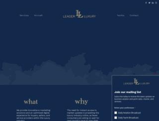 leaderaviation.com screenshot