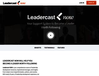 leadercastnow.com screenshot