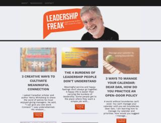 leadershipfreak.wordpress.com screenshot