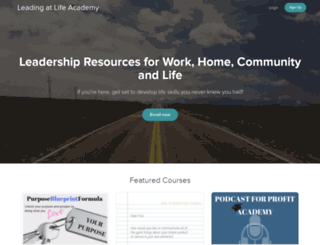 leading-at-life-academy.usefedora.com screenshot