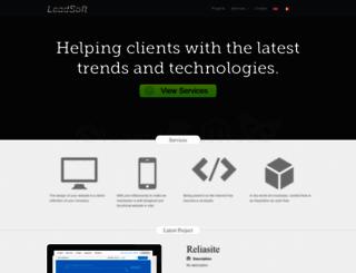 leadsoft.eu screenshot