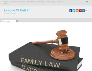 leagueofbalkan.org screenshot