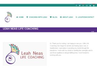 leahneaslifecoach.com screenshot