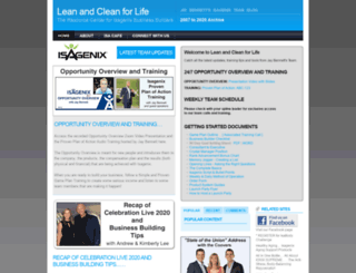 leanandcleanforlife.com screenshot