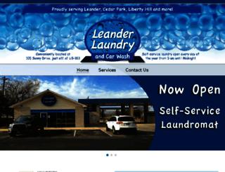 leanderlaundry.com screenshot