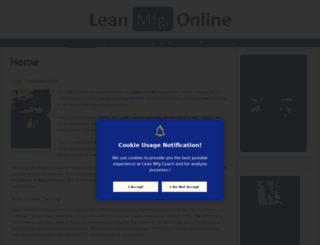 leanmfgcoach.com screenshot