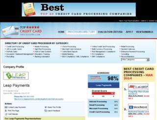 leap-payments.topcreditcardprocessors.com screenshot