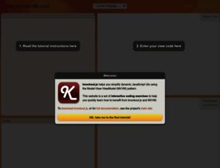 learn.knockoutjs.com screenshot