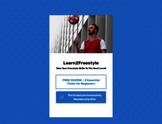 learn2freestyle.com screenshot