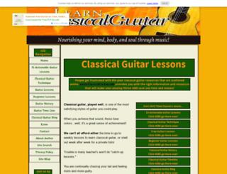 learnclassicalguitar.com screenshot