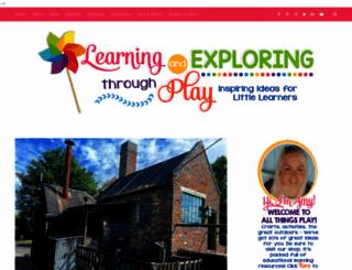 learningandexploringthroughplay.com screenshot