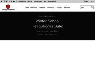 learningheadphones.com screenshot