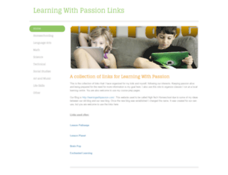 learningwithpassionlinks.weebly.com screenshot