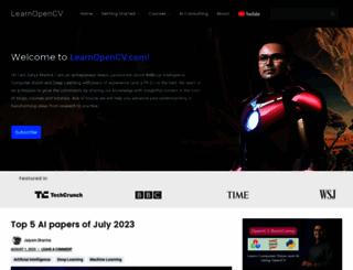 learnopencv.com screenshot