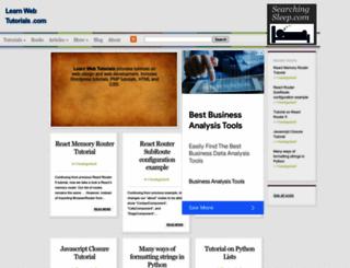 learnwebtutorials.com screenshot