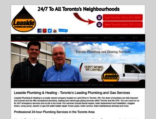 leasideplumbing.ca screenshot