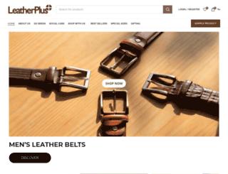 leatherplus.in screenshot