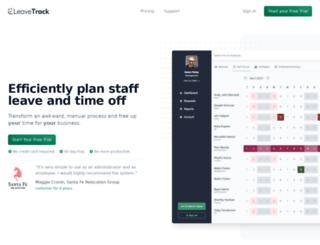 leavetrackapp.com screenshot
