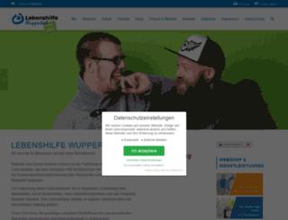 lebenshilfe-wuppertal.de screenshot