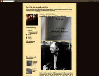 lecturasinquietantes.blogspot.com screenshot