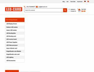 led-card.com screenshot