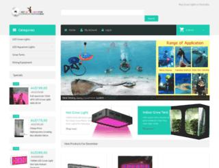 ledgrowlight-aquarium.com.au screenshot