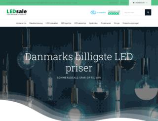 ledsale.dk screenshot
