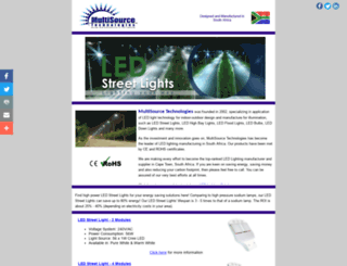 ledstreetlight.co.za screenshot
