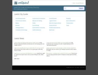 leeds.enquira.co.uk screenshot