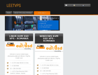 leetvps.ro screenshot