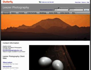 leezerphotography.shutterfly.com screenshot