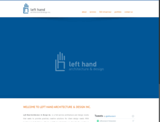 lefthandarch.com screenshot