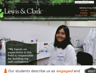 legacy.lclark.edu screenshot