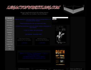 legacyofwrestling.com screenshot