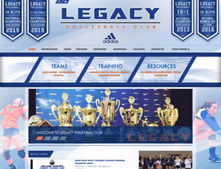 legacyvolleyballcenter.com screenshot