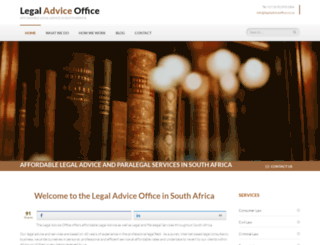 legaladviceoffice.co.za screenshot