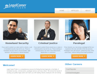 legalcareerfinder.com screenshot
