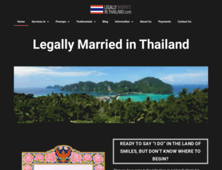 legallymarriedinthailand.com screenshot