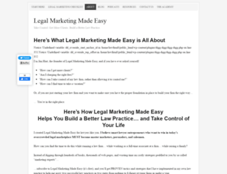legalmarketingmadeeasy.com screenshot