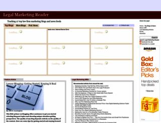 legalmarketingreader.com screenshot