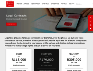 legalwise.co.za screenshot