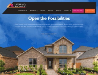 legendhomeshouston.com screenshot