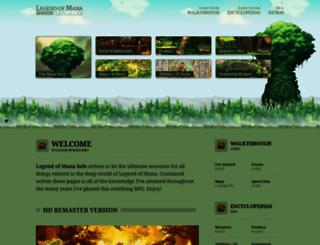 legendofmana.info screenshot
