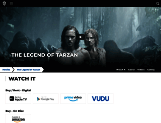 legendoftarzan.com screenshot