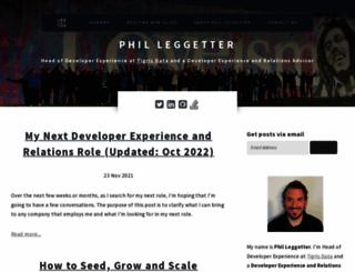 leggetter.co.uk screenshot